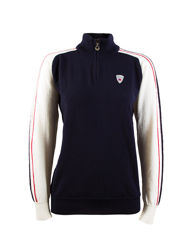 Dale of Norway Flagg Summer Windstopper Sweater, Ladies - Navy/Off White/Raspberry, 92951-C