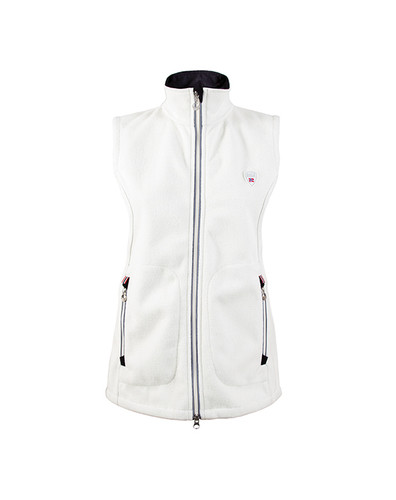 Ladies Dale of Norway Hafjell Knitshell Vest in Off White, 82881-A