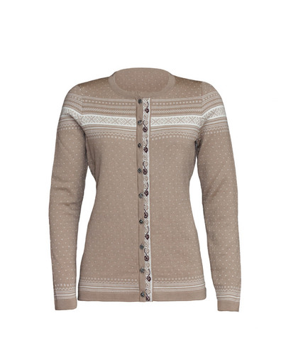 Dale of Norway Hedda Cardigan, Ladies - Warm Taupe, 82381-P