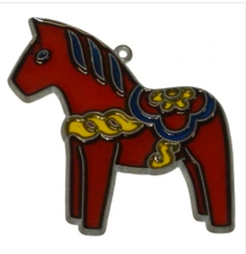 Dala Horse Suncatcher Christmas Ornament