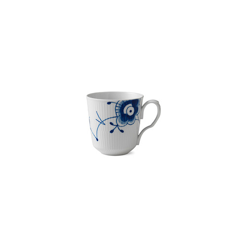 Blue Fluted Mega - Latte Mug with Handle, 15.5 oz.