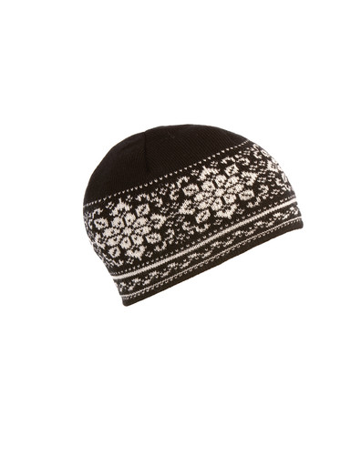 Ladies Dale of Norway Peace Hat - Black/Off White, 42391-F
