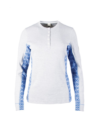 Ladies Dale of Norway Bykle Shirting in White/Cobalt, 93201-A