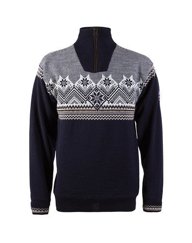 Dale of Norway Glittertind Windstopper Sweater, Mens - Navy/Mountainstone/Light Charcoal/Off White, 92881-C