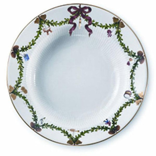 Star Fluted Christmas Soup Plate-Large