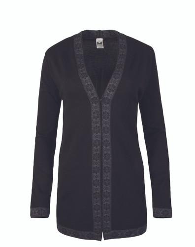 Ladies Dale of Norway Alexandra Cardigan - Black/Dark Grey, 83061-F