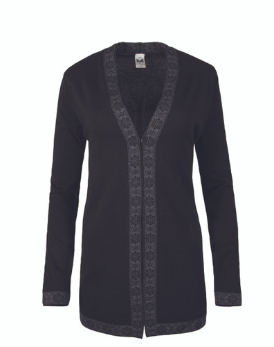 Dale of Norway Alexandra Cardigan - Black/Dark Grey, 83061-F