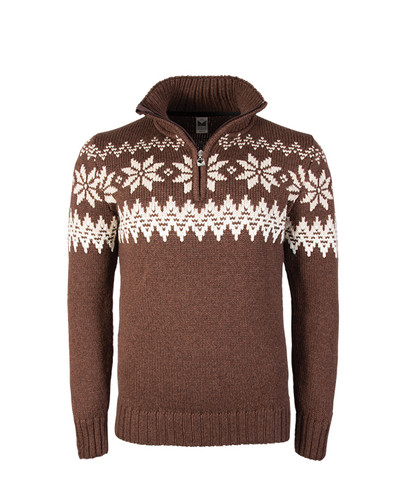 Mens Dale of Norway Myking Sweater - Firewood/Off White/Sand, 93141-R
