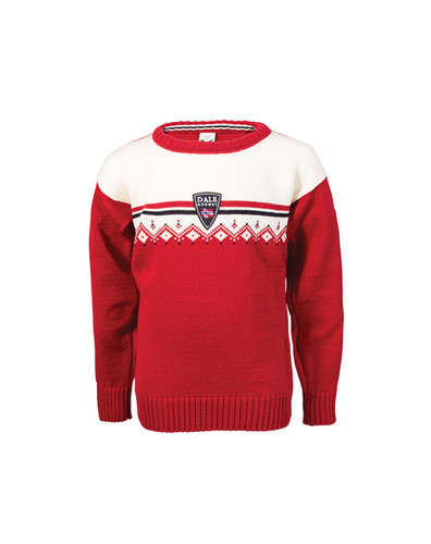Childrens Dale of Norway Lahti Sweater - Raspberry/Off White/Navy, 93311-B