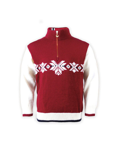 Childrens Dale of Norway Sochi Pullover - Raspberry, 92131-B
