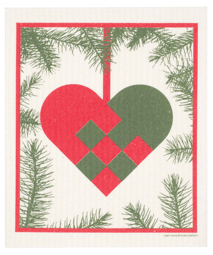 Swedish Christmas Dishcloth - Woven Heart
