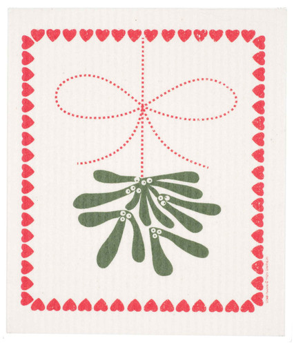 Swedish Christmas Dishcloth - Mistletoe