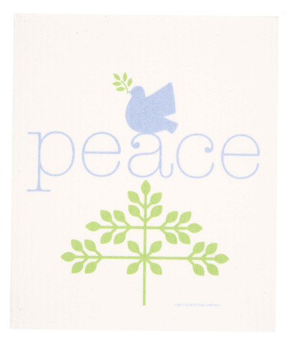 Swedish Christmas Dishcloth - Peace