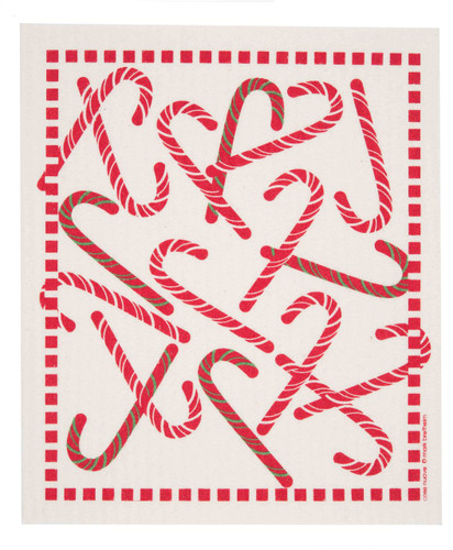 Swedish Christmas Dishcloth - Candy Cane