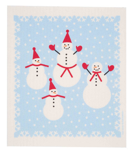 Swedish Christmas Dishcloth - Snowmen