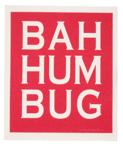 Swedish Christmas Dishcloth - Bah Hum Bug