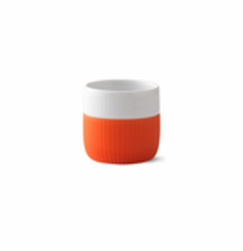 Royal Copenhagen Fluted Contrast Espresso Mug - Poppy Red
