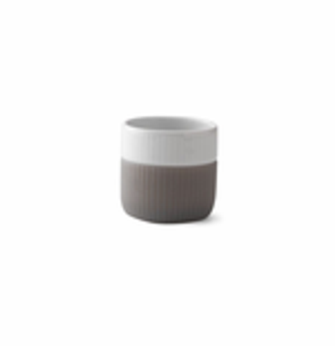 Royal Copenhagen Fluted Contrast Espresso Mug - Elephant Grey