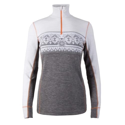 Dale of Norway Rondane Pullover, Ladies - Smoke/White/Orange Peel, 92681-T