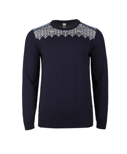 Dale of Norway Lillehammer Sweater, Mens - Navy/Sochi Blue/Off White/Grey, 93271-C
