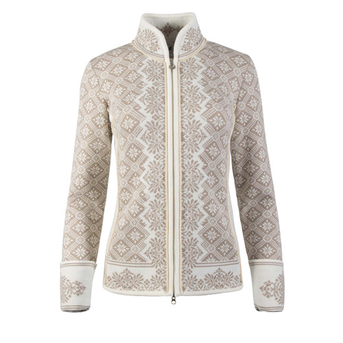 Ladies Dale of Norway Christiania Cardigan - Off White/Beige, 81951-P