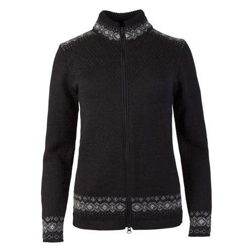 Ladies Dale of Norway Bergen Jacket - Black/Smoke/Off White, 83181-F