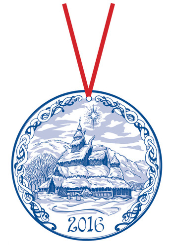 2016 Stav Church Ornament - Borgund