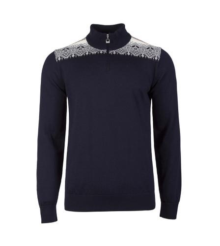 Dale of Norway Fiemme Sweater, Mens - Navy/Raspberry/Orange Peel/Peacock/Off White, 93421-C