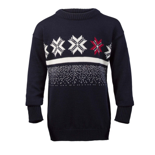 Childrens Dale of Norway Olympic Passion Pullover - Navy/Raspberry/Off White, 93341-C