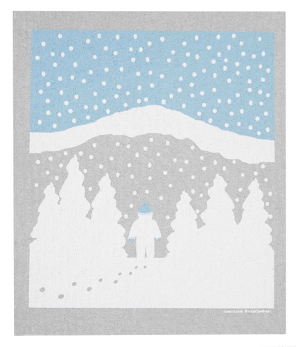 Swedish Christmas Dishcloth - Snowy Mountain