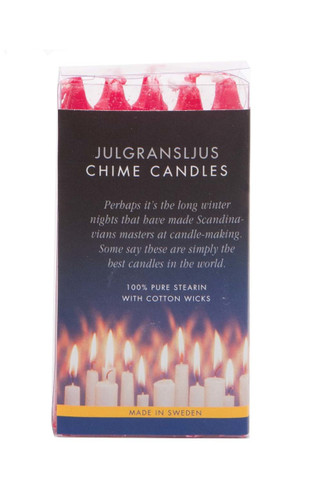 Swedish Angel Chime Candles - Red
