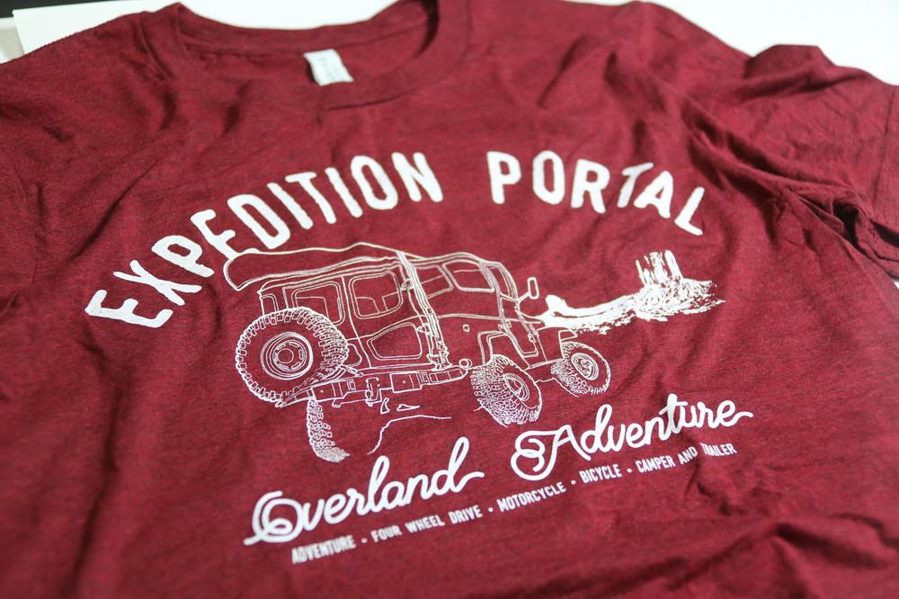 Expedition Portal Overland Adventure T-shirt (Deep Red)