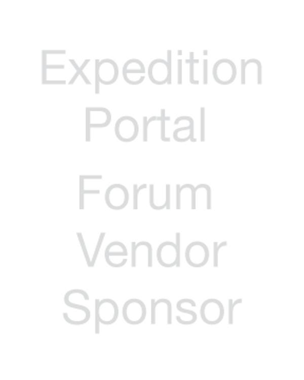 Expedition Portal - Forum Vendor Sponsor