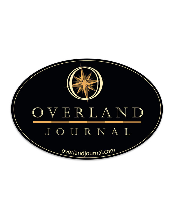 Overland Journal Oval Decal