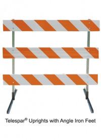 Type III Barricade with Angle Iron Feet