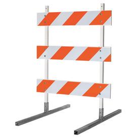 5' x 5' TYPE III Barricade with Telespar Uprights and Angle Iron Feet
