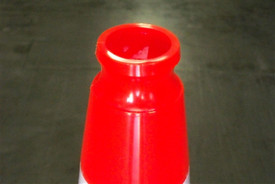Recessed top of Traffic Cone to make grabbing the cone easy and fast