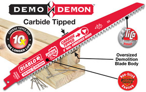 """6"""" C/T Diablo Reciporcating Blade (Carbide Tipped)"""