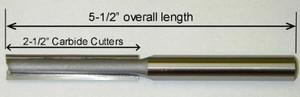 """Templaco 1/2""""Diameter x 1/2"""" Shank 5-1/2""""OAL 2-1/2"""" Cutter Length"""