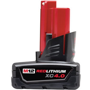 M12 4.0AH  Red Lithium Battery