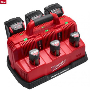 Milwaukee 3 Bay M18+M12 Rapid Charger