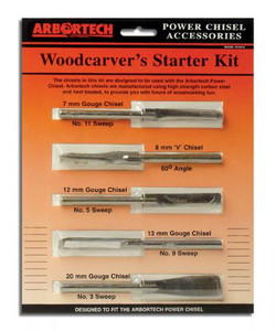 WoodCarvers Starter Kit of 5 Chisels