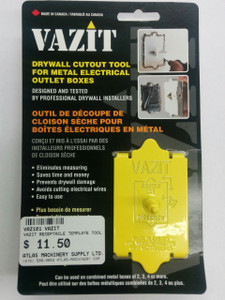 VAZIT- Drywall Cutout Tool - Electrical Outlet Boxes