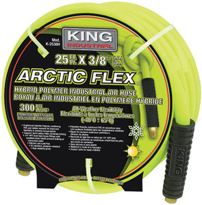 "Arctic Flex Industrial Air Hose, 50' x 1/4"" ID"