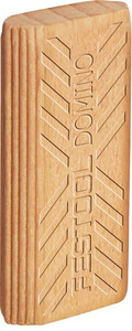 Beech Domino Tenons, 10mm x 24 mm x 50mm, Pack of 85