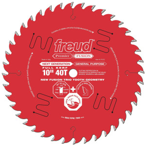 "Premier Fusion 10"" 40 Tooth Saw Blade with 5/8"" Arbor"