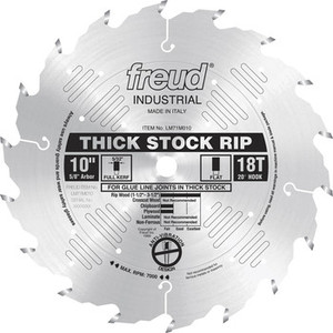 """10"""" 18 Tooth FTG Thick Stock Rip Saw Blade"""