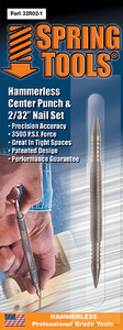 "Combination Center Punch & 1/16"" Nail Set"