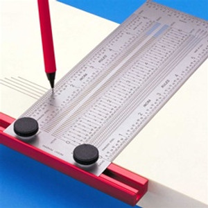 150mm T-RULE - TO 0.25mm