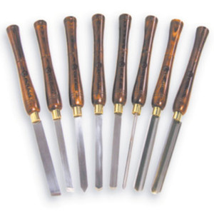 8 Pc. Wood Lathe Chisel Set